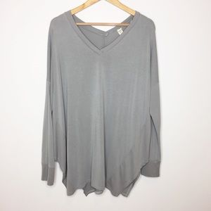 Aerie gray oversized tunic lazy Sundays Size large
